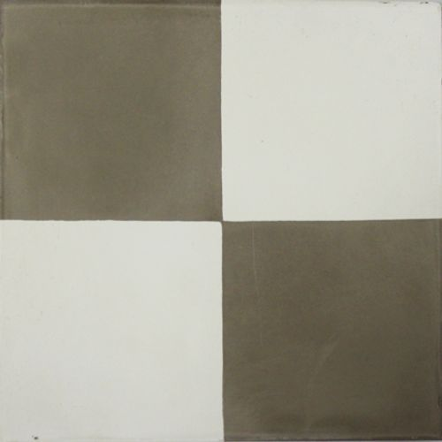 Carrelage sol carreau de ciment Kasbah 4 faces gris-blanc 20x20cm