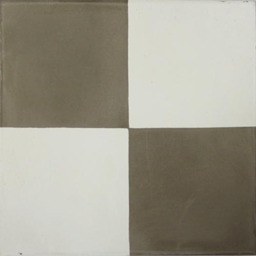 Vloertegel cementtegel Kasbah 4 zijdedecor grijs wit 20x20cm