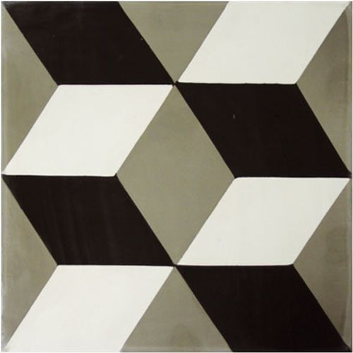 Vloertegel Marrakech 3-dimensionaal decor grijs  20x20cm