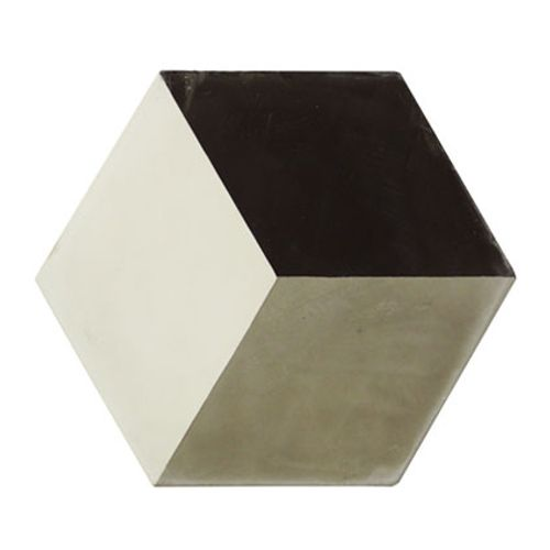 Vloertegel Marrakech hexagon decor 3-dimensionaal grijs 17x17cm