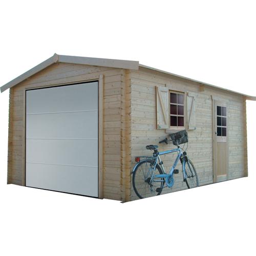 Solid garage gemotoriseerd 'S8946' hout 17,07 m²