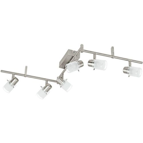 Eglo spotlamp 'Orvieto 1' nikkel 6 x 3,3 W