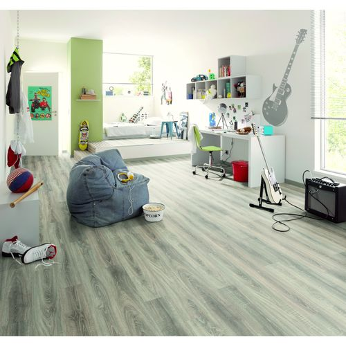 Parquet stratifié Decomode Emotion Sochi chêne gris 7 mm 2,48 m²