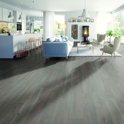 Parquet stratifié Decomode Large Bergen chêne graphite 8 mm 2,54 m²