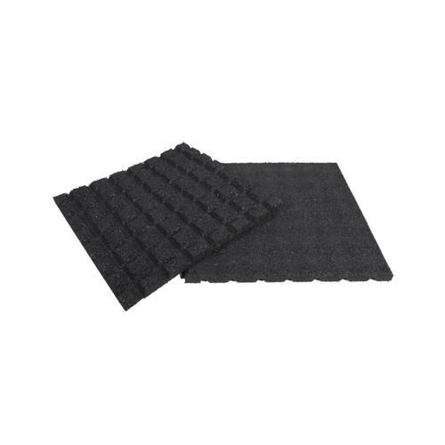 Dalle caoutchouc Coeck noir 50 x 50 x 2,5 cm - 1 pc