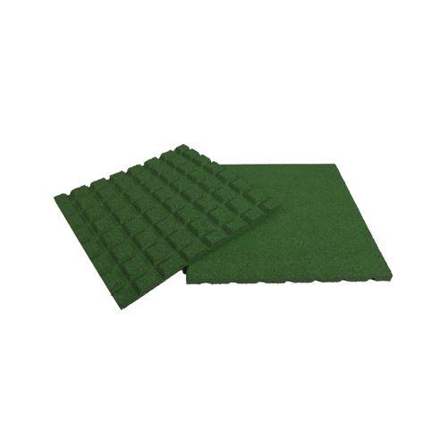 Dalle caoutchouc Coeck vert 50 x 50 x 2,5 cm - 1 pc