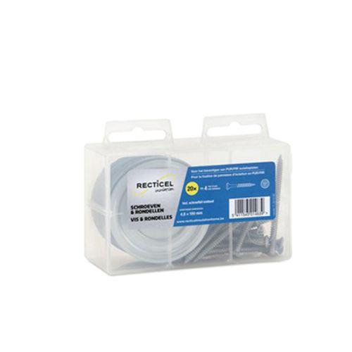 Recticel schroef en rondel voor isolatiepaneel 4,8 x 100 mm - 20 stuks