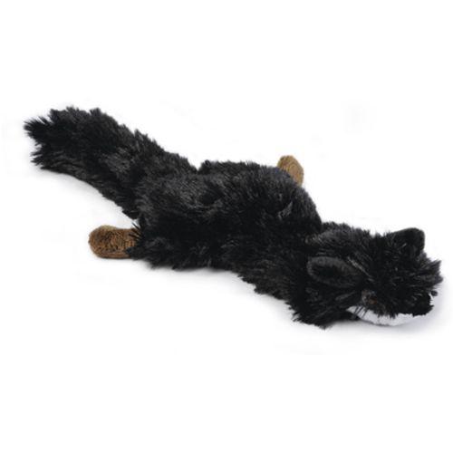 Flatino pluche vos zwart