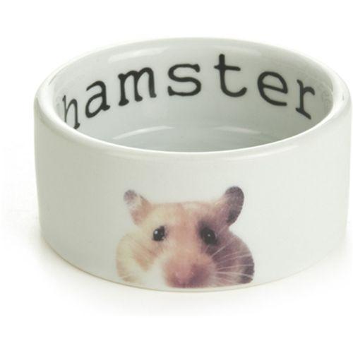 Beeztees keramiek hamsterbakje snapshot wit