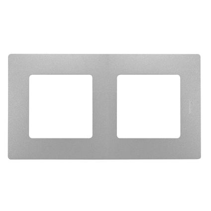 Legrand NILOÉ Afdekraam 2V -  zilver