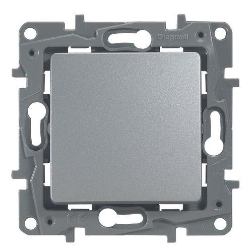 Legrand NILOÉ inbouw drukknop - enkelvoudig - zilver