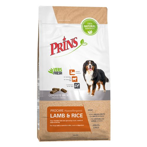 Prins ProCare hond hypoallergic lamb & rice 3 kg