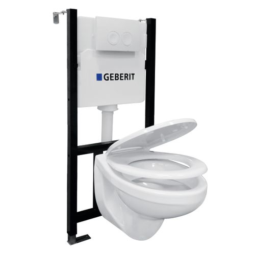 GO by Van Marcke inbouwreservoirpack met Geberit spoeltechniek 3/6L + Sphinx toiletpot + Haro toiletzitting