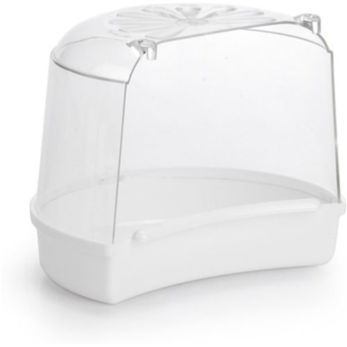 Pet products plastic badhuisje, miami wit, rond