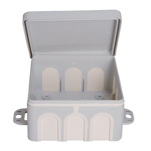 Kopp kabeldoos + doordruk membramen IP54 85x85x40mm grijs