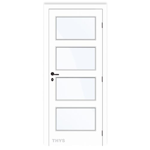 Bloc-porte Thys 'Concept 10 Design 4 panneaux' tubulaire à peindre 83cm