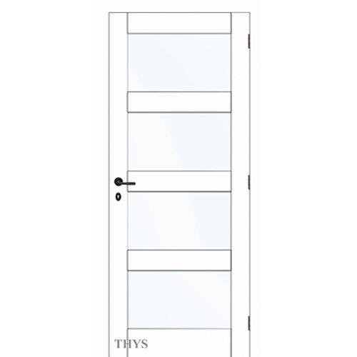 Thys deurgeheel 'Concept S63 Platina Quadra Glass' wit 73cm