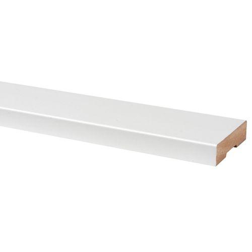Deurlijst MDF wit carré 18x70mm260cm
