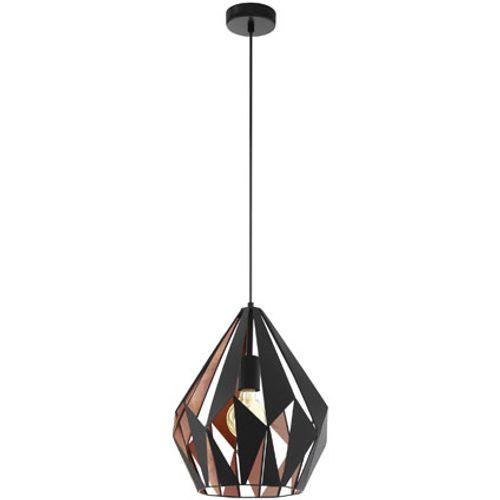 EGLO hanglamp Carlton zwart 60W