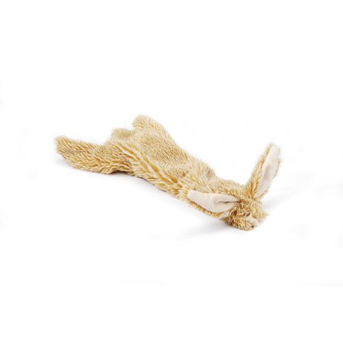 Beeztees flatino pluche konijn bruin