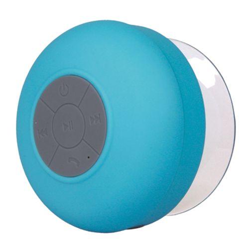 Haut parleur de douche Bluetooth bleu