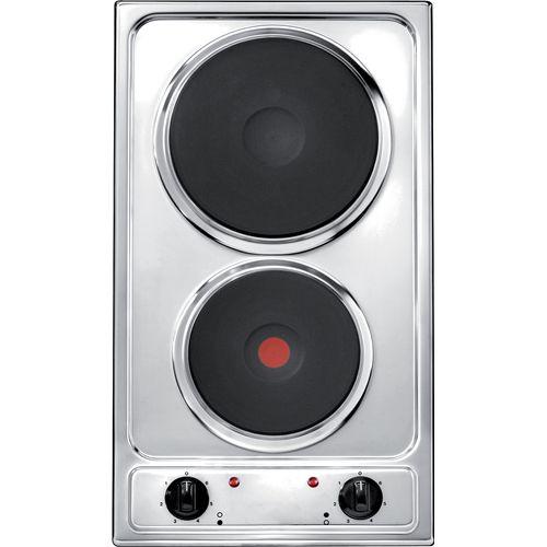 Plaque de cuisson électrique 2 zones Electrum E31XSE inox 28,8cm