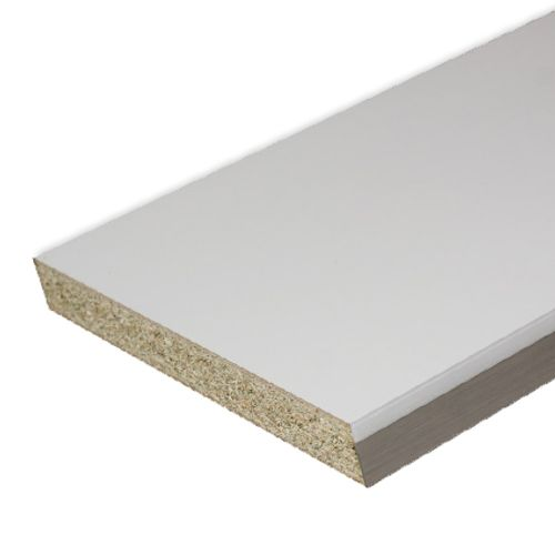 Sencys werkblad wit glanzend 305 x 65 x 3,8 cm