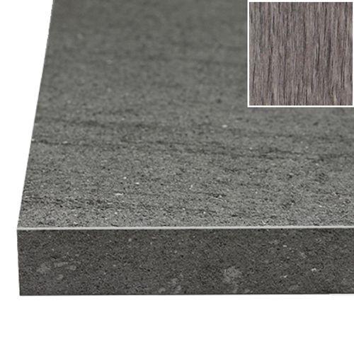 Sencys werkblad grijze eik 305 x 65 x 3,8 cm
