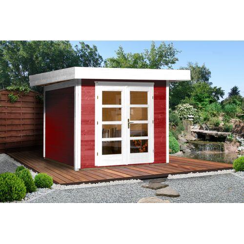 Weka tuinhuis 126 GR3 rood 295x300cm