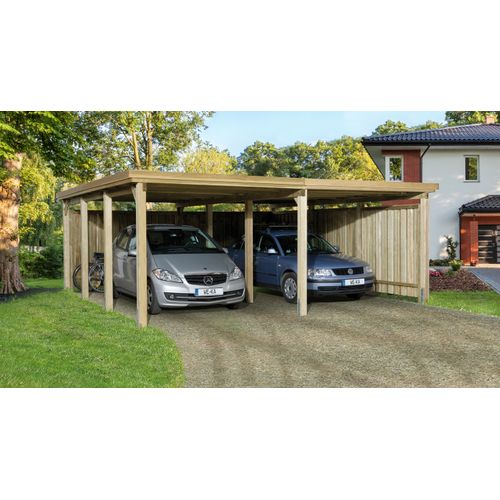 Weka dubbele carport 618 GR.2 576x591cm