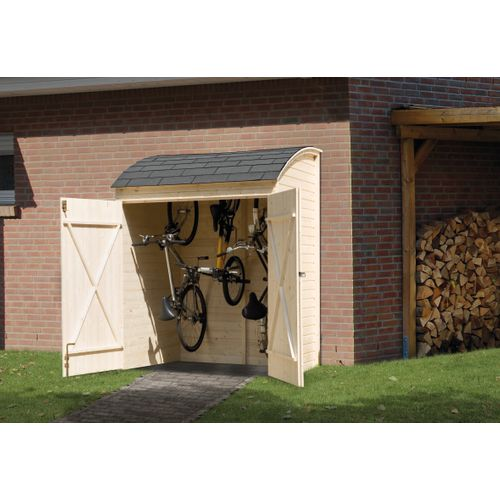 Armoire de jardin pour vélos Weka 367 naturel 160x134cm