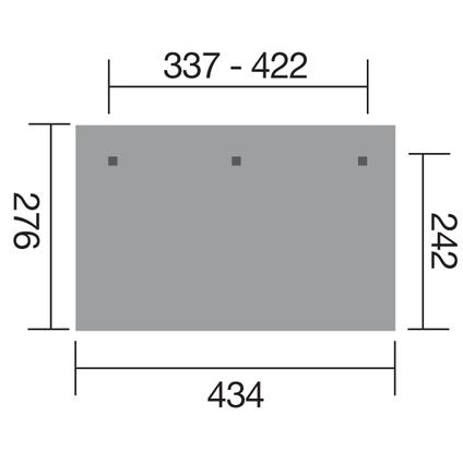 Weka terrasoverkapping 672 GR.1 337x242cm
