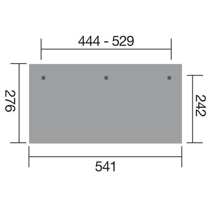 Weka terrasoverkapping 672 GR.3 444x242cm