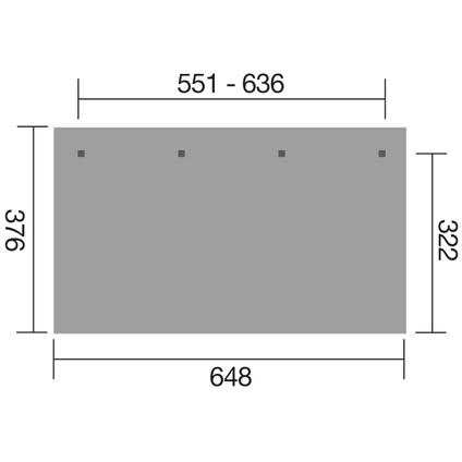 Weka terrasoverkapping 672 GR.5 551x322cm