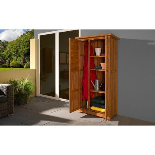 Armoire de jardin/terasse Weka 195A brun 80x43cm