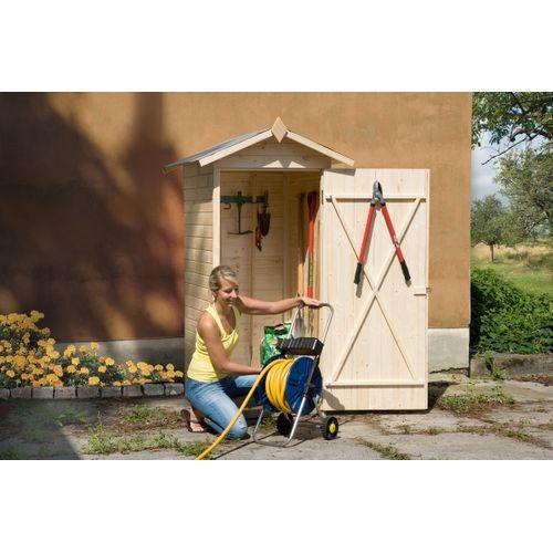 Armoire de jardin Weka 351 bois naturel 83x85cm