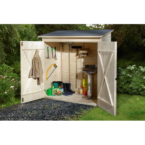 Armoire de jardin Weka 361GR.1 bois naturel 163X85cm