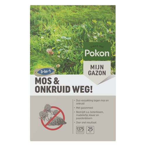 Pokon onkruidbestrijder Mos & Onkruid Weg! voor 25m²