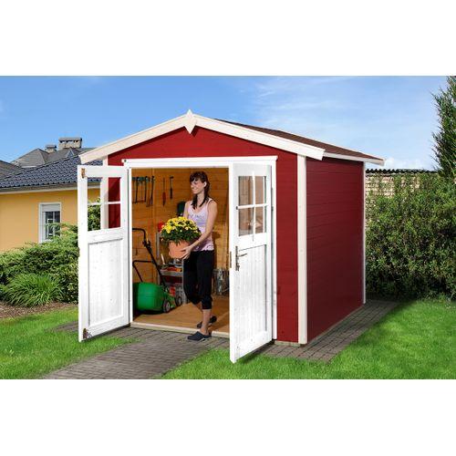 Abri de jardin Weka224 GR3 rouge 235x239cm