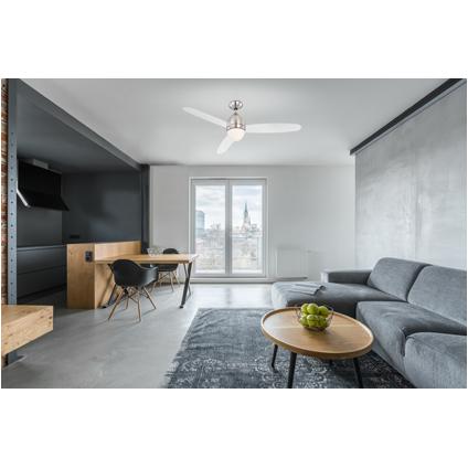 Globo plafond ventilator Premier transparant