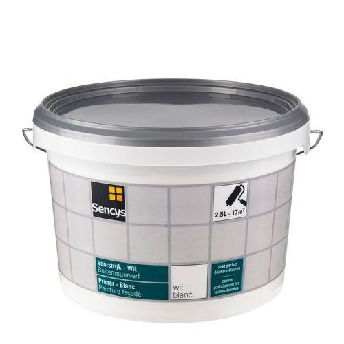 Sencys buitenmuur primer wit 2,5L
