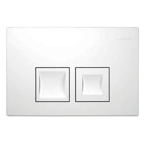 Plaque de commande Geberit Delta50 2 touches blanc mat 16,4x24,6cm