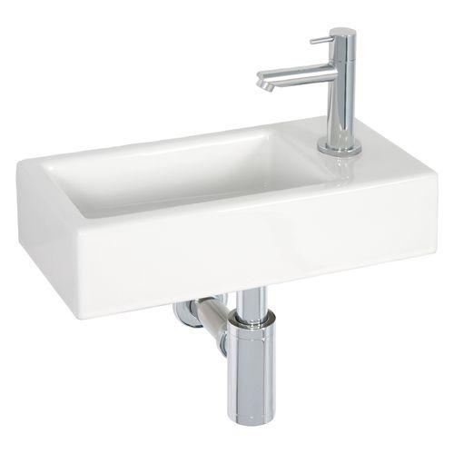 Lave-mains AquaVive Somme céramique blanc 37,5cm