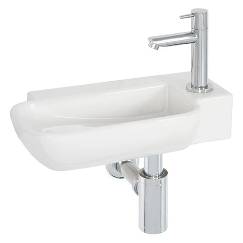 Lave-mains AquaVive Maine céramique blanc 36cm