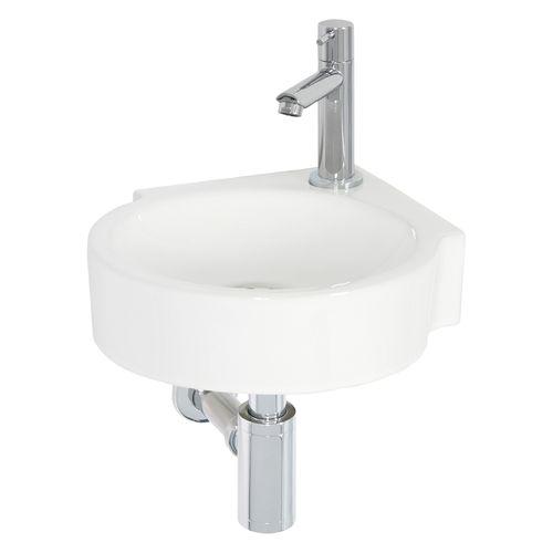 Lave-mains de coin AquaVive Lot céramique blanc 35cm