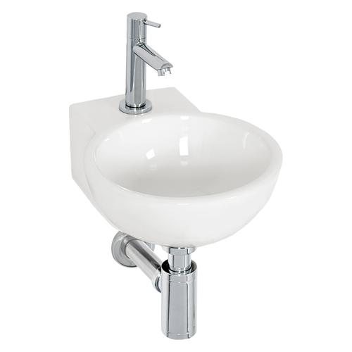 Lave-mains AquaVive Boutonne céramique blanc 31,5cm