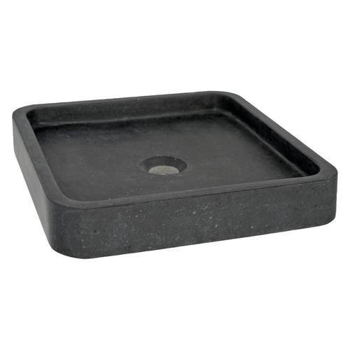 Aquazuro opzetwastafel Alento natuursteen zwart 40cm