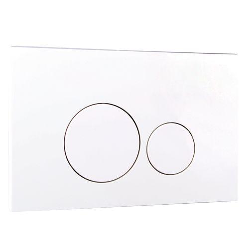 Aquazuro bedieningspaneel tweeknops rond wit