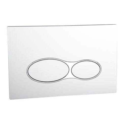 Panneau de commande deux boutons Aquazuro ovale argent chrome
