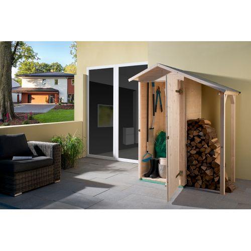 Armoire de jardin Weka 351GR.1A bois naturel 224x87cm